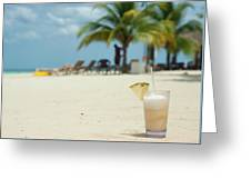Drink In The Sand Greeting Card