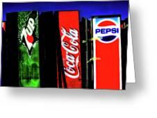 Drink Vending Machines Greeting Card
