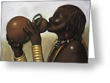 Drinking Gourd Greeting Card by L Cooper