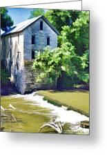 Drinkwater And Schriver Mill Cedar Point Kansas  Greeting Card