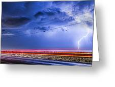 Drive By Lightning Strike Greeting Card