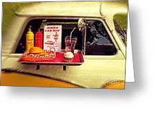 John's Car Hop Greeting Card