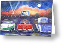 Drive-in Movie Theater Greeting Card