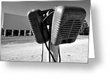 Drive In Speakers Greeting Card by David Lee Thompson