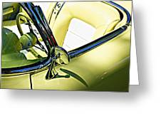Driver's Seat -- 1958 Chevrolet Corvette At The Golden State Classic Car Show, Paso Robles Ca Greeting Card