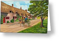 Driving A Jaunting Cart Greeting Card