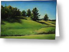 Driving By A Michigan Meadow Greeting Card