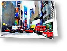 Driving Manhattan Greeting Card