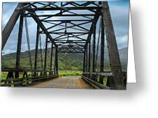 Driving Over Hanalei Bridge Greeting Card
