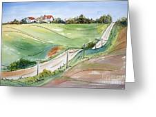 Driving Through Iowa Greeting Card by Pat Katz