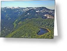 Drone Shot Of Lake Evan Greeting Card