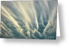 Dropping Clouds Greeting Card