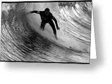 Dropping In At San Clemente Pier Greeting Card