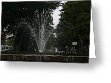 Drops Of Fountain Greeting Card