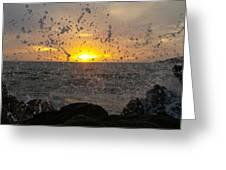 Drops, Sun And Sea Greeting Card