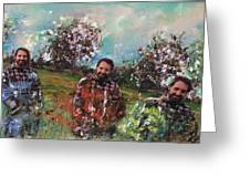 Dror And The Almond Trees Greeting Card