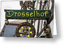 Drosselhof Neon Sign Greeting Card
