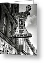 Drug Store Sign Greeting Card by Steven Ainsworth
