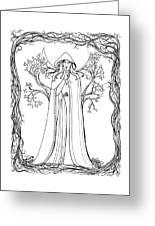 Druid Woman Shush Greeting Card
