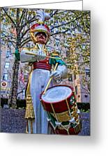 Drummer Boy  In Rockefeller Center Greeting Card