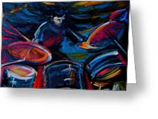 Drummer Craze Greeting Card