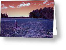 Dry Lake Infrared Greeting Card