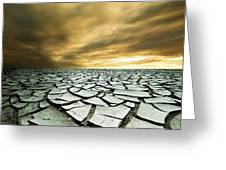 Dry Lowlands Greeting Card by Zarija Pavikevik