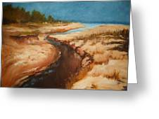 Dry River Bed Greeting Card