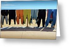 Drying Wet Suits Greeting Card