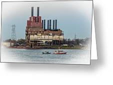 Dte Power Plant  Greeting Card