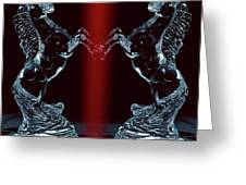 Dual Of Stallions Greeting Card