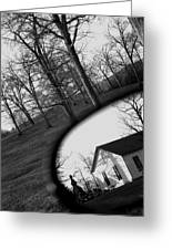 Duality - A Black And White Photograph Symbolically Representing The Gravity Of Choice  Greeting Card