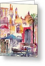 Dubai Creekside Greeting Card