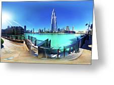 Dubai Burj Khalifa Panorama Greeting Card