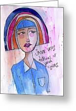 Dubious Jane Greeting Card