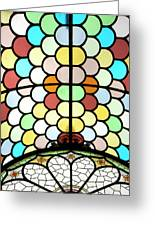 Dublin Art Deco Stained Glass Greeting Card