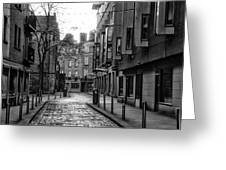 Dublin Ireland - Essex Street In Black And White Greeting Card