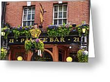 Dublin Ireland - Palace Bar Greeting Card