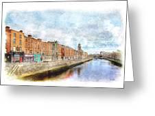 Dublin Watercolour Greeting Card