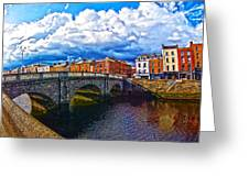 Dublin's Fairytales Around Grattan Bridge 2 Greeting Card