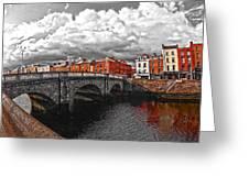 Dublin's Fairytales Around Grattan Bridge 2 V3 Greeting Card