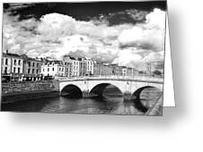 Dublin's Fairytales Around  River Liffey 3 Bw Greeting Card