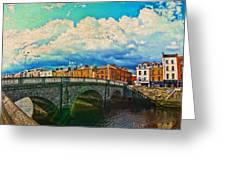 Dublin's Fairytales Around  River Liffey V4 Greeting Card