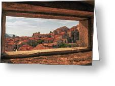 Dubrovnik City In Southern Croatia Greeting Card