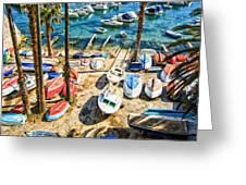Dubrovnik Croatia - Sea Of Boats Greeting Card