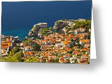 Dubrovnik Fortress From Above Greeting Card