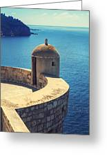 Dubrovnik Fortress Wall Tower Greeting Card