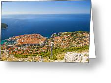Dubrovnik From Above Panorama Greeting Card