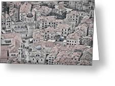 Dubrovnik Rooftops #2 Greeting Card