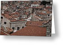 Dubrovnik Rooftops #3 Greeting Card